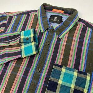 Scotch & Soda Striped Long Sleeve Button Shirt
